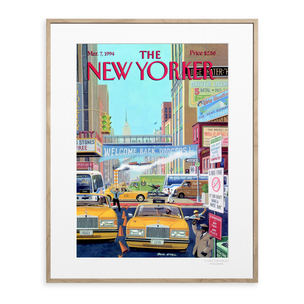 affiche the new yorker 10 mccall taxi. Black Bedroom Furniture Sets. Home Design Ideas