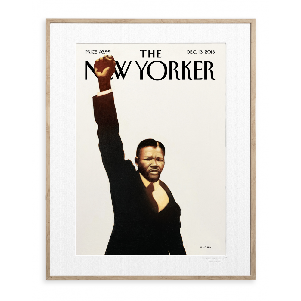 affiche the new yorker 28 nelson mandela. Black Bedroom Furniture Sets. Home Design Ideas
