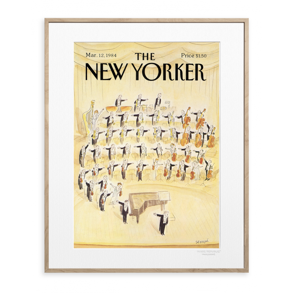 affiche the new yorker 36 sempe orchestre. Black Bedroom Furniture Sets. Home Design Ideas