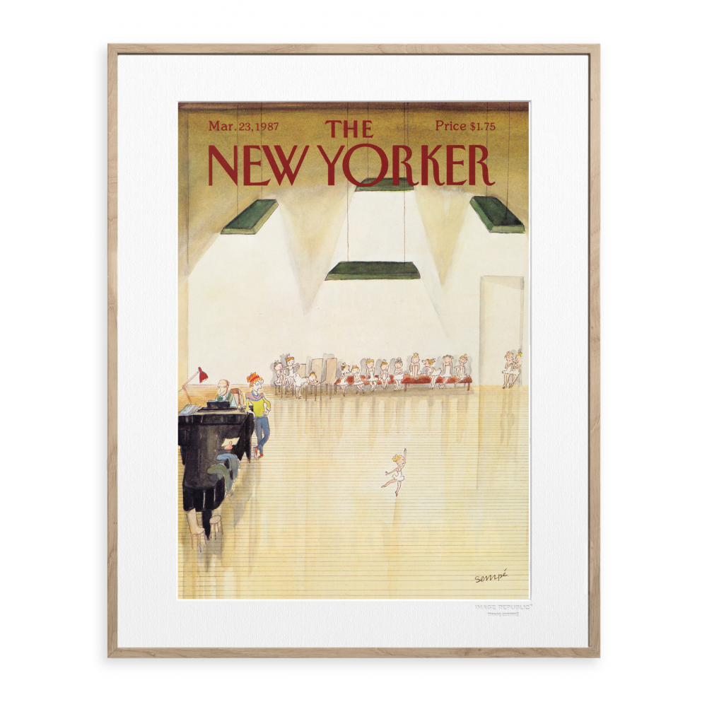 affiche the new yorker 40 sempe audition. Black Bedroom Furniture Sets. Home Design Ideas