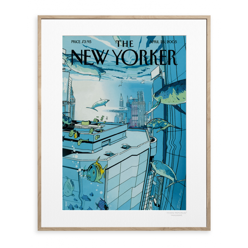 affiche the new yorker banyai underwater. Black Bedroom Furniture Sets. Home Design Ideas