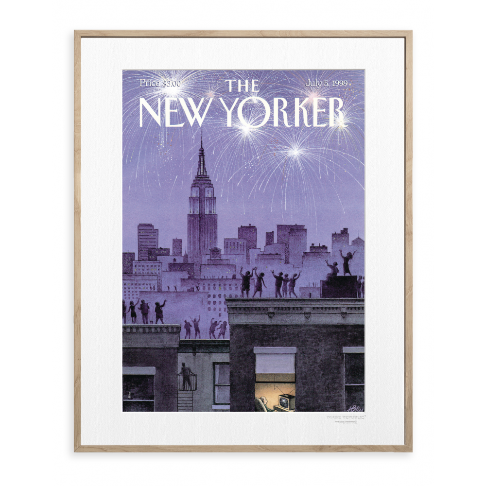 affiche the new yorker bliss 4th of july fire words. Black Bedroom Furniture Sets. Home Design Ideas