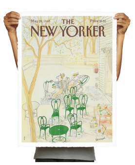 THE NEWYORKER 81 SEMPE GREEN CHAIRS 1985